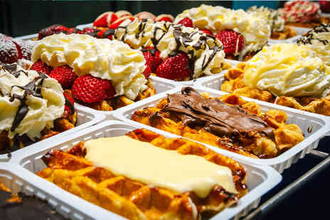 Big Mommas Waffles - Choice of hot drink for a coffee or milkshake and a waffle for one - Save 49%