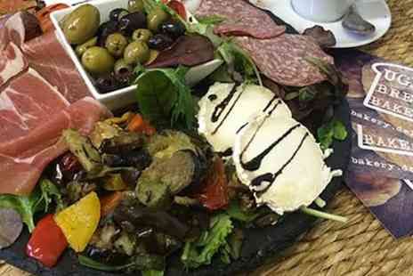 Ugly Bread Bakery - Antipasto Board with Ugly Garlic Bread and Soft Drinks for Two - Save 48%