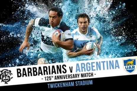 Twickenham Stadium - Adult Ticket to Barbarians v Argentina Rugby - Save 0%