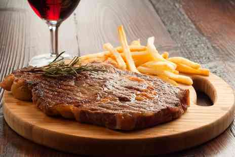 Top Pub - Two Course Steak Dinner with Wine or Beer for Two - Save 0%