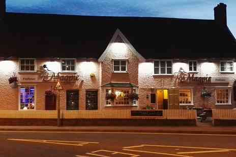 The Magpie Inn - Two Course Meal with a Glass of Wine for Two or Four  - Save 41%