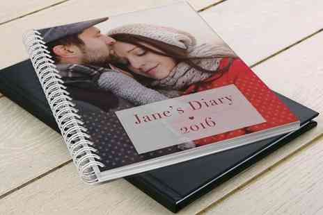 Printerpix - Personalised A5 Leather Bound or Spiral Photo Diary - Save 67%