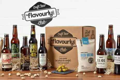 Flavourly - One Month Gift Craft Beer Club Membership with Snacks and Delivery  - Save 67%