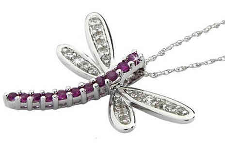 Lyncroft Marketing Services - Anderson plus Webb Ruby Dragonfly Pendant - Save 0%