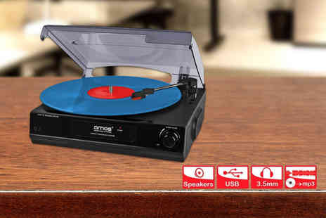 Cost Mad - USB turntable with built in stereo speakers  - Save 62%