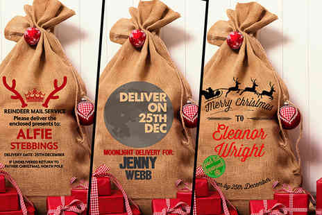 Well Personalised - One personalised Hessian Christmas sack  - Save 67%