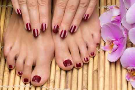 Simones Beauty Boutique  - Shellac Manicure or Pedicure or Both  - Save 60%