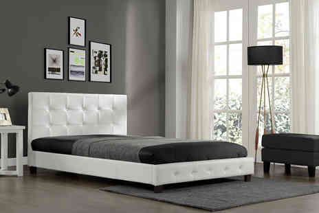 Limitless Base - Double Gabriella bed frame in either black or white - Save 71%