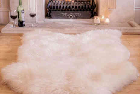 Snug as a British Sheepskin Rug - Sheepys British Sheepskin Rug - Save 51%