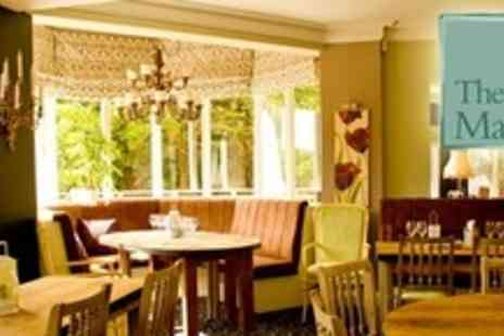 The Manor - Two Course Meal For Two With Glass of Wine Each - Save 54%