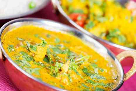 The Red Veil - Two Course Indian Meal with Rice or Naan and Coffee for Two - Save 0%