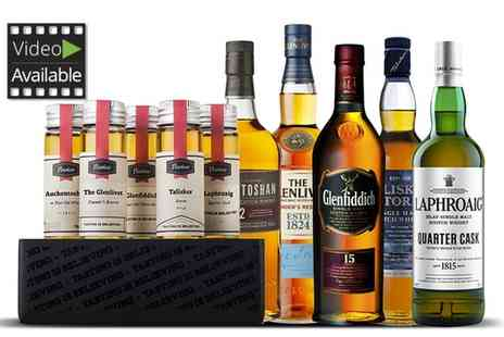 Flaviar - Five Scotch Whiskies, Gins or Rums  With Free Delivery - Save 59%