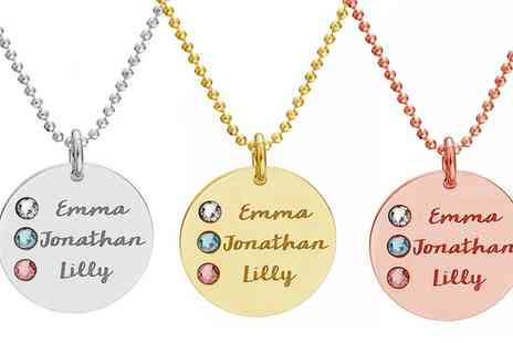 Silvexcraft Design - Personalised Name Necklace Made with SWAROVSKI ELEMENTS With Free Delivery - Save 77%