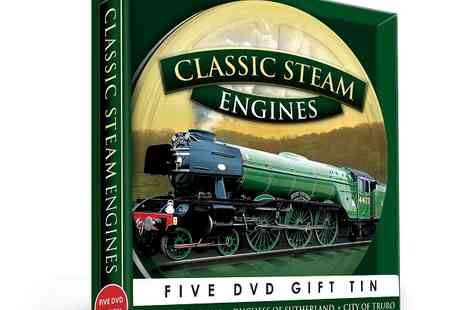 JEM Marketing & Fulfilment Services - Favourite Classic Steam Engines 5 DVD gift tin - Save 0%