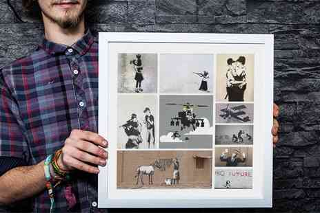 who Art now - Banksy Collage Canvas in Choice of Size  - Save 91%