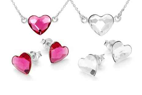 SilvexCraft - Sterling Silver My Love Set With SWAROVSKI ELEMENTS  With Free Delivery - Save 76%