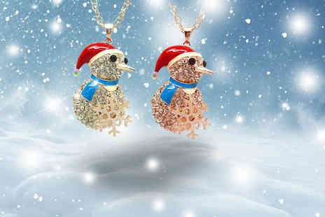 Cian Jewels - Statement snowman necklace made with Swarovski Elements - Save 86%