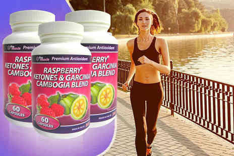 Pro Muscle Products - Three month supply of raspberry ketone and garcinia cambogia capsules - Save 87%