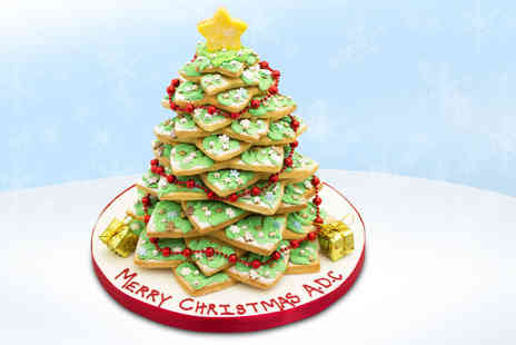 Anns Designer Cakes -  12 inch personalised shortbread Christmas tree  - Save 66%