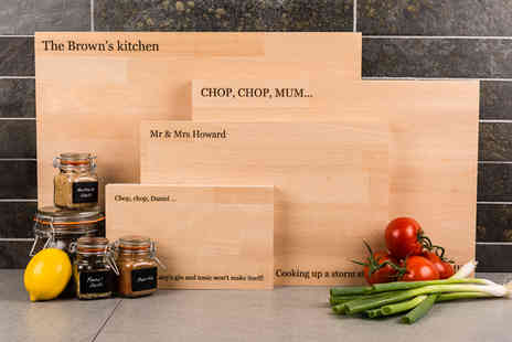 Macs Creative - Small personalised chopping board - Save 68%