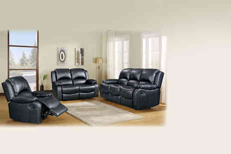 Love Sofas - Valentino bonded faux leather reclining chair, sofa, matching suite - Save 62%
