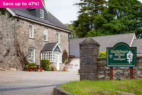 Gellifawr Hotel, Restaurant & Cottages - One night stay for two with breakfast - Save 45%