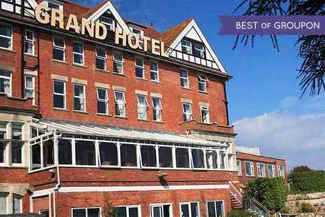 Grand Hotel Swanage - One or Two Nights stay For Two With Breakfast or Two Nights Plus Dinner - Save 28%