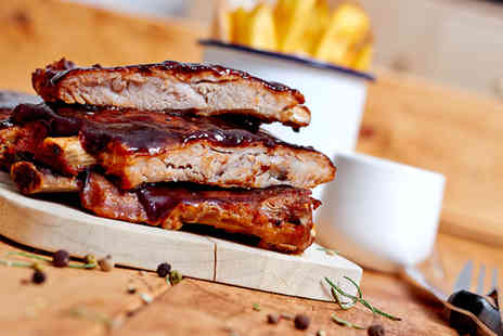 Putney Fire Bar & Grill -  BBQ ribs or burger meal for two including a beer each   - Save 51%