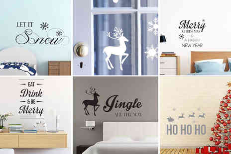 Wundur - Christmas wall stickers and window decals - Save 77%