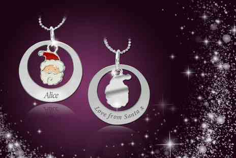 Cian Jewels - Personalised  Love from Santa necklace made with Swarovski Elements - Save 88%