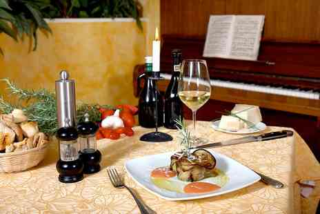 Cafe Piano Restaurant & Bar - Two Course Meal with Wine for Two - Save 53%