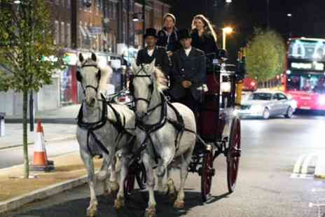 The Ostler - London Christmas Lights Horse Drawn Carriage Tour for Six - Save 60%