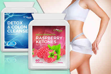 Pro Muscle Products - One month supply of raspberry ketone and colon cleanse capsules - Save 84%