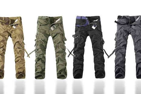 Stylematch Online - Mens Military Style Trousers - Save 38%