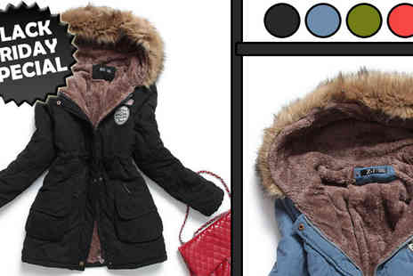 HK J and Y International Trading - Womens Luxurious Fur Lined Parka Coat - Save 67%