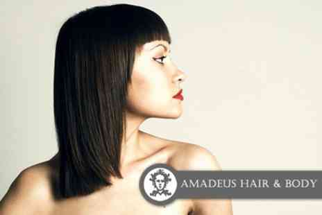 Amadeus Hair and Body - 90 minute Biolustre Deep Protein Treatment, Cut and Straightening Blowdry - Save 63%