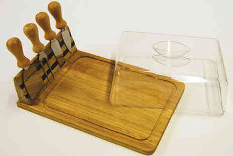 D1 Design & Creative  Ltd - Cheese Board And Knife Set - Save 75%