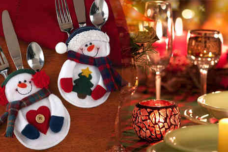 Rubybliss Global - Snowman Cutlery Holders - Save 57%