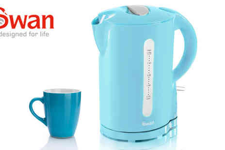 Swan Products - Swan 1.7l Blue Jug Kettle - Save 47%