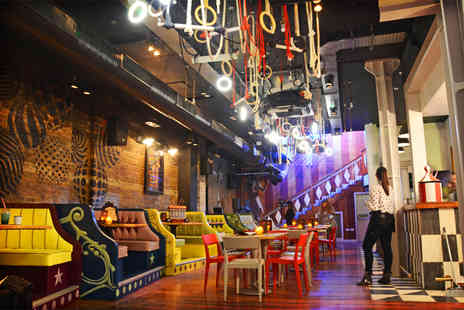 Trapeze Bar - Four cocktails and a choice of food platters to share between two   - Save 67%
