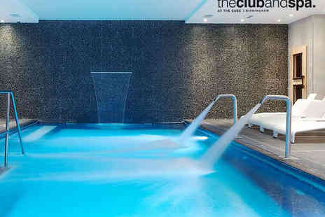 The Club and Spa - Spa Day with Head, Neck and Shoulder Massage or Elemis Facial for One - Save 56%