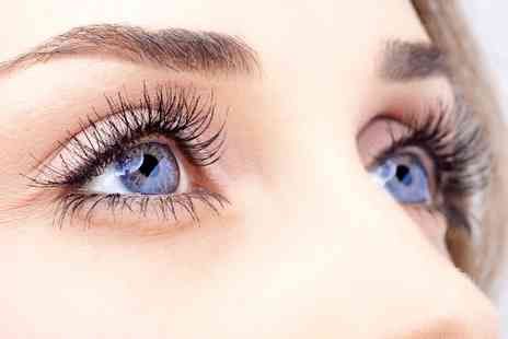 Cyan BeautyStudios - Full Set of Eyelash Extensions with an Eyebrow Wax and Tint  - Save 57%