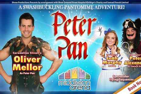Middleton Arena - Peter Pan Pantomime Starring Oliver Mellor on 5 to 27 December  - Save 46%