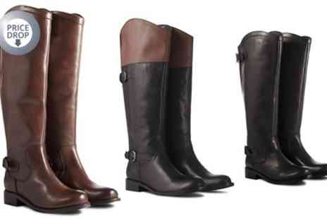Groupon Goods Global GmbH - Ladies Leather Riding Style Boots - Save 78%