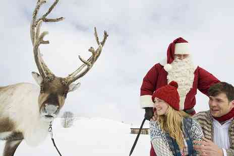 Barn Farm Educational Working Farm - Adult and Child Entry to Meet Santa and His Real Reindeer  - Save 0%