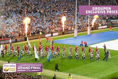 The Rugby Football League - Ticket to the First Utility Super League Grand Final 2016 - Save 50%