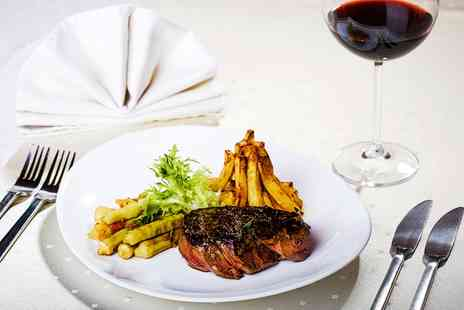 Steam Wine Bar - Rib Eye Steak Dinner with a Glass of Wine and Optional Antipasti for Two   - Save 52%