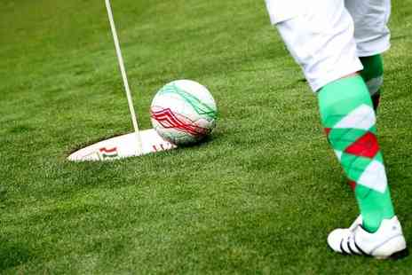 Golf Kingdom - 18 Holes of Footgolf for One Child, Adult, Family or Adult Group  - Save 35%