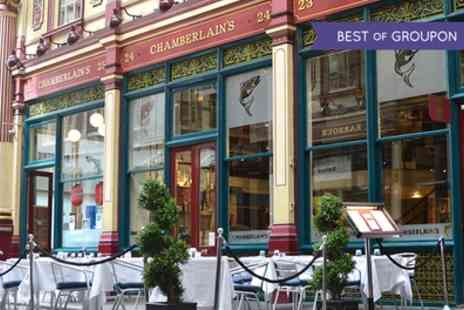 Chamberlains Restaurant - Three Course Set Menu with a Glass of Prosecco for One or Two  - Save 48%