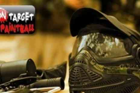 OnTarget Paintball - Paintball Experience For Ten People With 100 Paintballs Each - Save 90%